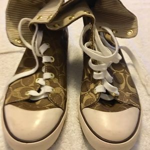 Brand New Stylish Hi-Top Bonney Sneakers By COACH